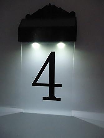 Flurida Solar Powered Led House Number Wall Light