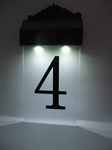 Flurida solar powered led house number wall light amazon flurida solar powered led house number wall light mozeypictures Gallery