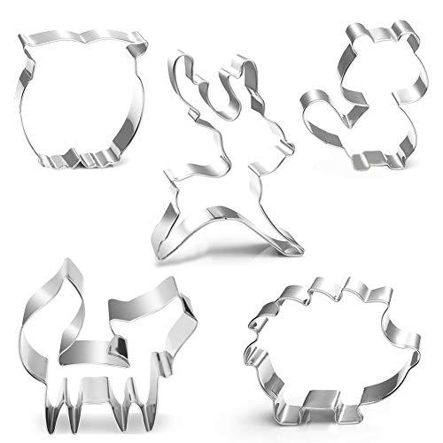 Woodland Creatures Cookie Cutters Set- Animal Shaped Cutters For Baby Shower Or Birthday Party