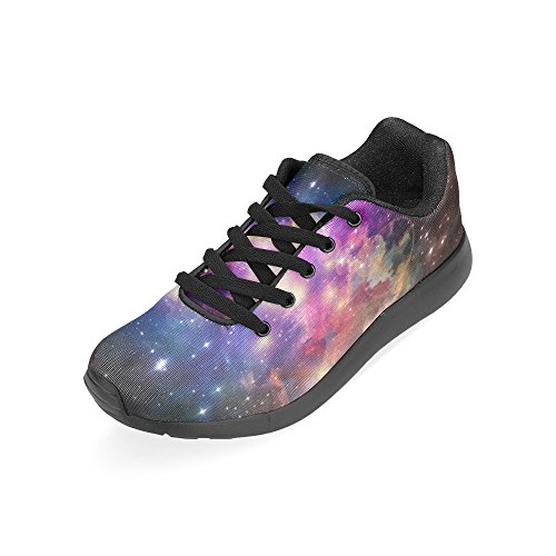 InterestPrint Womens Jogging Running Sneaker Lightweight Go Easy Walking Comfort Sports Athletic Shoes Galaxy Blue and Purple LyrApV