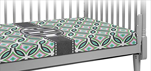 - Geometric Circles Crib Fitted Sheet (Personalized)