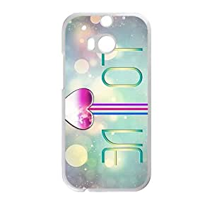 Love Heart personalized creative custom protective phone case for HTC M8