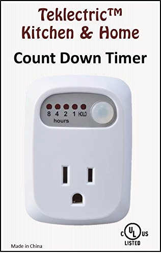 Teklectric Indoor Auto Shut Off for Curling Iron Hair Straightener Countdown Phone Charger Timer Safety Outlet Conserve Socket by Teklectirc (Image #2)