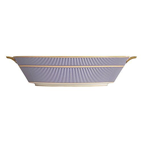 Wedgwood Anthemion Open Vegetable Bowl, Blue