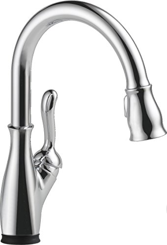 Delta Faucet 9178T-DST Leland, Single Handle Pull-Down Kitchen Faucet with Touch2O Technology and Magnetic Docking, Chrome