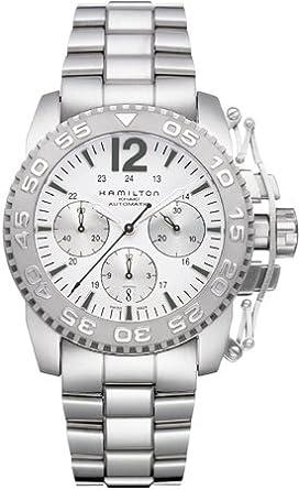 e275b9807 Image Unavailable. Image not available for. Colour: Hamilton Khaki Action  Auto Chrono Men's Automatic Watch H63556115