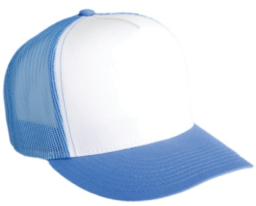 Flexfit Adjustable Snapback Classic Trucker Hat by 6006 (C.Blue/Wht/C.Blue) ()