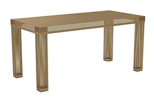 Novogratz Iconic Modern Metal Coffee Table, Gold