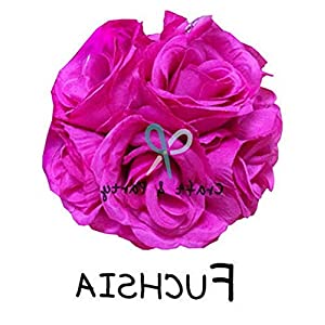 Mikash 10 Flower Kissing Ball Rose Pomander Wedding Party Home Decoration (25 cm) | Model WDDNGDCRTN - 23342 | 80