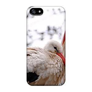 Excellent Iphone 5/5s Case Tpu Cover Back Skin Protector Birds Animals Storks by supermalls