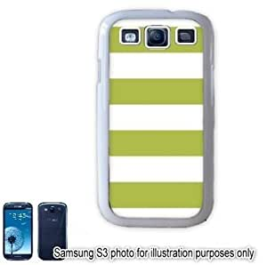 Lime Green Cabana Stripes Pattern Samsung Galaxy S3 i9300 Case Cover Skin White