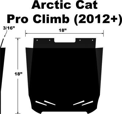 Proven Design SF-012PCPB Snowmobile Mud Flap Arctic Cat Pro Climb 2012-2012 Plain Black Snow Flap