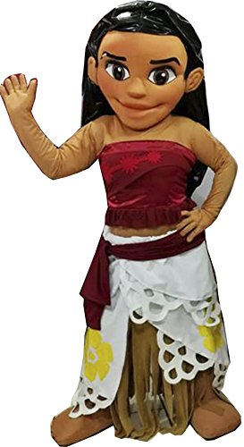 Moana Mascot Costume Adult Character Costume / Delivery Time 3 to 4 Weeks