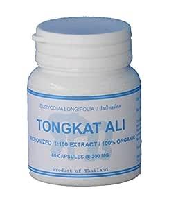 Tongkatali.org's Tongkat Ali Extract 1:100 60 Capsules 300 mg
