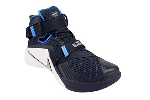 Navy Lebron Midnight Soldier Metallic Scarpe Silver IX Uomo Sportive Nike Blue Photo White 0TqFxx