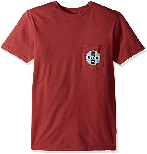 RVCA Men's INDOBROK Short Sleeve Pocket T-Shirt, Garnet S