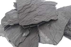 25 kg de piedra de pizarra natural negra para una roca de ...