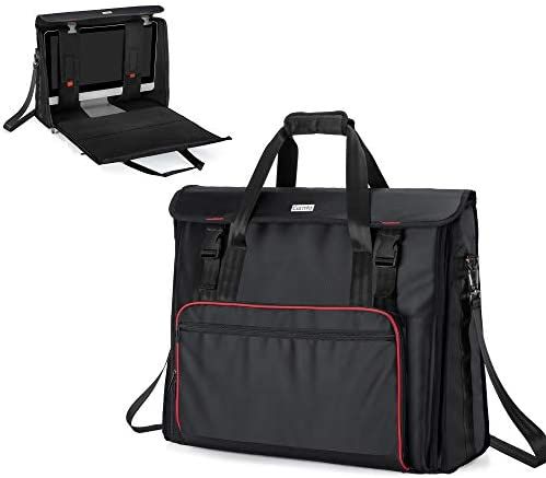 """CURMIO Travel Bag Compatible with Apple iMac 27"""" Desktop Computer, Portable Carrying Case Compatible with iMac 27-inch Monitor and Accessories, Black"""