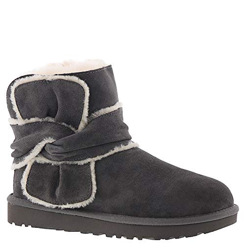 UGG Womens Mini Spill Seam Bow Boot, Charcoal, Size for sale  Delivered anywhere in USA