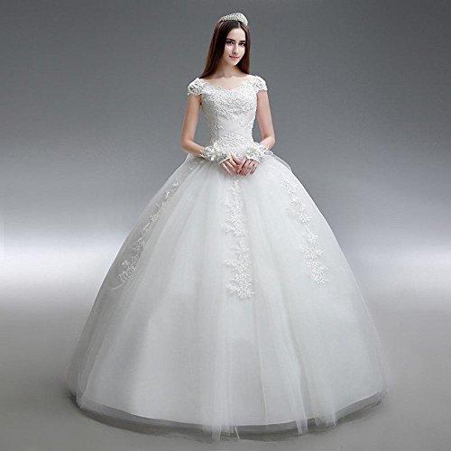 Primavera De Qi Boda Gran Simple Blanco Vestido Palabra Hombro Verano Delgada Tamaño Y Novia Dyy Sección fFE7wq5f