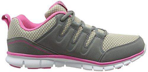 para de Gola Termas Gris Grey Mujer Zapatillas Running Pink 2 wtrrFqxX
