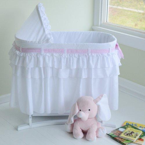 Lamont Home Good Night Baby Bassinet, Full White Skirt