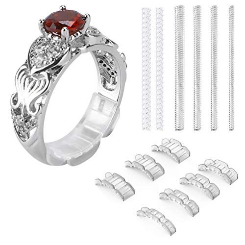 2 Styles Invisible Ring Size Adjuster for Loose Rings - Ring Guard, Ring Sizer, 20 Pieces, 13 Sizes Fit for Man and Woman Ring