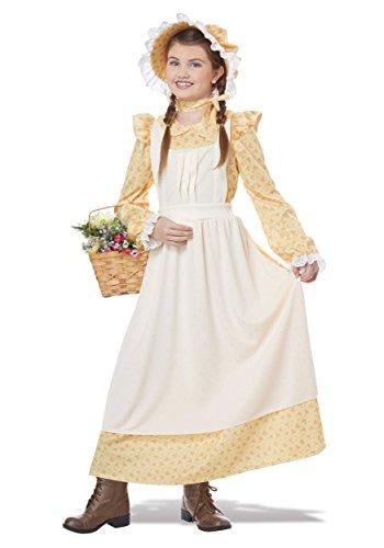 California Pioneer Costume (Girls Prairie Girl Costume Large)