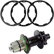 Bike Hub Spacer, Bicycle Headset Washer, Aluminium Alloy Flywheel Hub Spacer