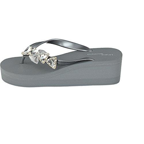SiebisPescara - Pantuflas de caña alta Mujer gris