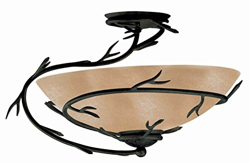 Kenroy Home 90905BRZ Twigs 1-Light Semi-Flush, Blackened Bronze Finish