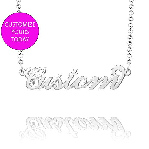 Moonlight Collections Script Necklace 943 Sterling Silver Pendant Chain Personalized Necklace Mariah