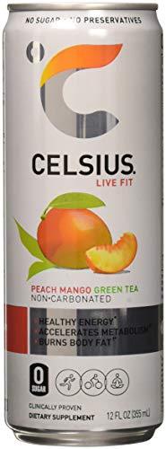 - Celsius Celsius - Peach Mango Green Tea, 12-12 fl oz (355mL) Cans