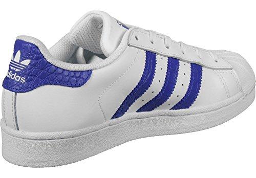 adidas Superstar J, Zapatillas de Deporte Unisex Niños Blanco (Ftwbla / Azufue / Azufue)