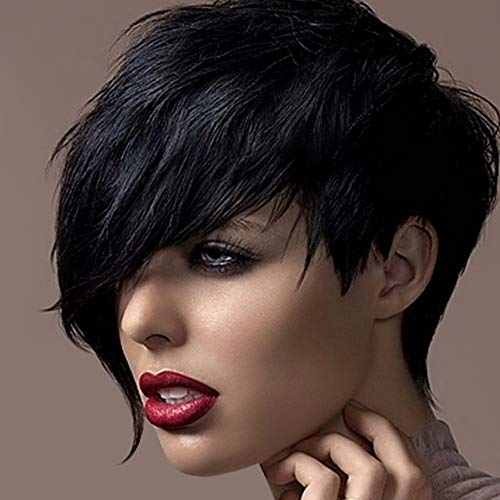 Birthday Gift!!! Jumberri Women Wigs Short Straight Synthetic Hair Full Wigs for Women Natural Looking Heat (30cm) -
