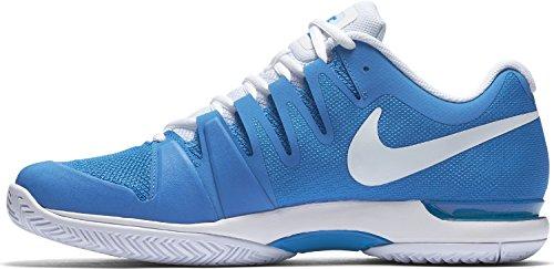 Uomo Nike Vapore Zoom Scarpe Da 9,5 Giro Da Tennis (inverno 2017 Colori) Photo Blu Bianco 404