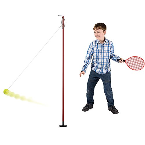 (Toyrific Garden Games TY5995 Classic Swing Ball Tennis Set with Rackets)