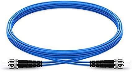 100M Indoor Armored ST-ST 4 Strand Single-Mode 9//125,Fiber Patch Cord DHL free