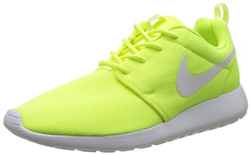 Barely W Volt Green Black White One Running Roshe Shoes Volt Nike Women's 4nxPq5C0wv