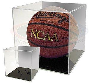 BCW BallQube Grandstand Basketball / Soccer Ball Holder - Mirrored Back - Sports Memoriablia Display Case - Sportscards Collecting Supplies by BallQube