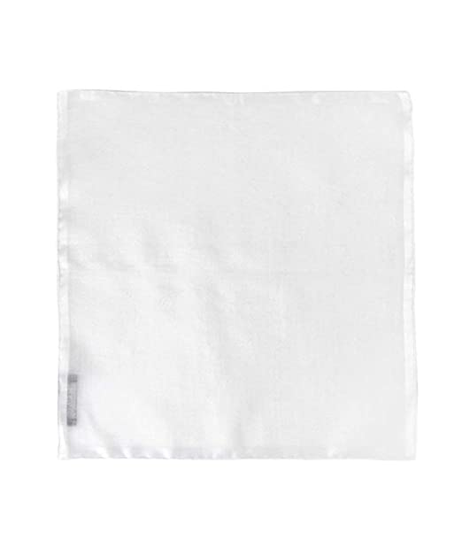 8937a28c0249f 100% White Linen Handmade Pocket Square Handkerchief in Perfect Suit Size  (3-PACK) at Amazon Men's Clothing store