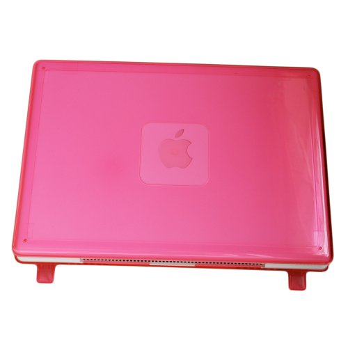 iPearl mCover Hard Shell Case for Model A1181 original 13-inch black/white MacBook released before Oct. 20, 2009 (Pink)