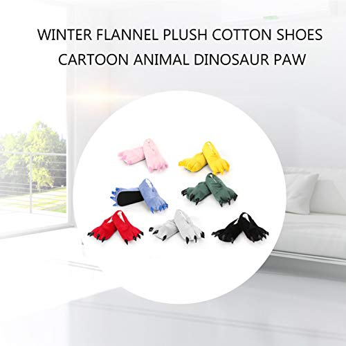 Peluche De D'animal Flanelle Patte Couple En Coton For Tellaboull Cartoon Chaussures YwCBEq