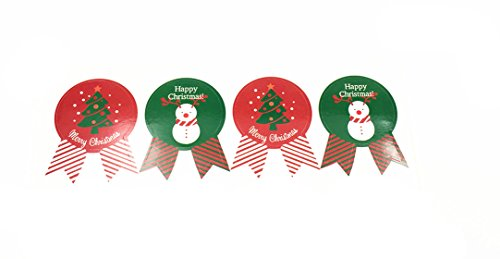 Pack of 40 Christmas style Decorative Adhesive Label Personalized Stickers Packaging Seals Crafts Handmade Baked Envelope Label Decorative Sticker (Christmas sticker 25mmx35mm - Stickers Personalized Christmas