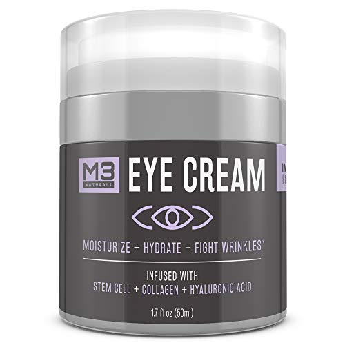 41tF9rexszL - M3 Naturals Eye Cream Infused with Collagen Stem Cell and Hyaluronic Acid for Puffiness Wrinkles Dark Circles Under Eye Bags Fine Lines Anti Aging Treatment Healthy Skin Care Moisturizer