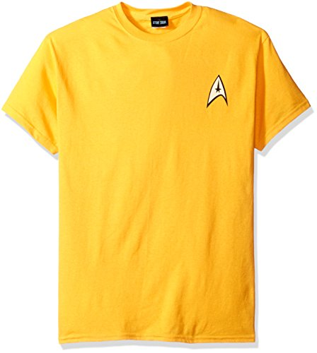 [Trevco Men's Star Trek Command Uniform T-Shirt, Gold, Medium] (Star Trek Uniform Shirts)