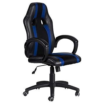 regalosMiguel - Sillas Gaming - Silla Race - Azul y Negro
