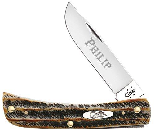 Personalized Case Bonestag Sod Buster JR Pocket Knife - Free Laser Engraving