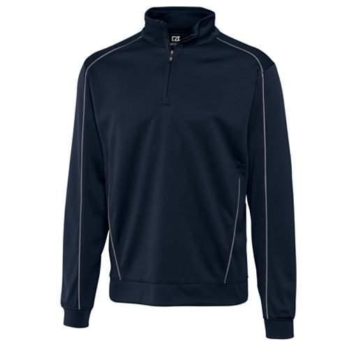 Cutter & Buck Men's Big-Tall Drytec Edge Half Zip Sweatshirt, Navy Blue, - Top Dad 2014 Gifts