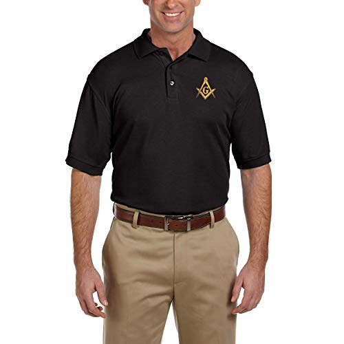 Square & Compass Embroidered Masonic Men's Polo Shirt - ()